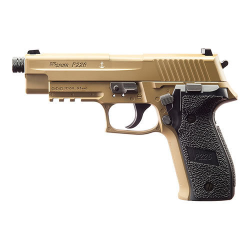 Sig Sauer P226 Co2 Pistol .177 - FDE - Rifled Barrel