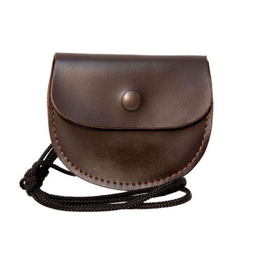 David Nickerson Leather Pellet Pouch - Brown
