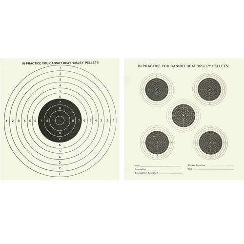 Bisley 14cm Targets Double Sided Five & One - Grade 1 (1000)
