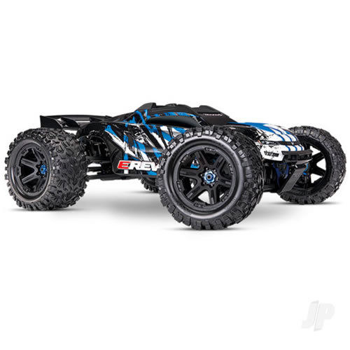 Traxxas E-Revo VXL Brushless 1:10 4WD Monster Truck - Blue (+TQi/VXL-6S/TSM) - NO Batt or Chg)