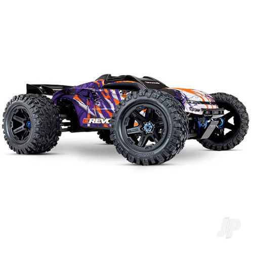Traxxas E-Revo VXL Brushless 1:10 4WD Monster Truck - Purple  (+TQi/VXL-6S/TSM) - NO Batt or Chg)
