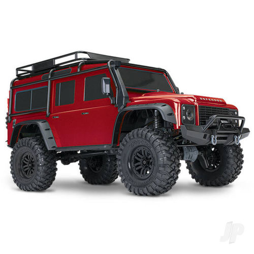 Traxxas Red TRX-4 Land Rover Defender 1:10 4X4 Electric Trail Crawler RTD (+ TQi , XL-5 HV, 550)